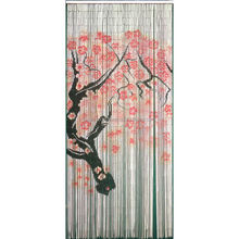 High quality best selling Bamboo Door Curtain with Cherry Blossom in Viet Nam