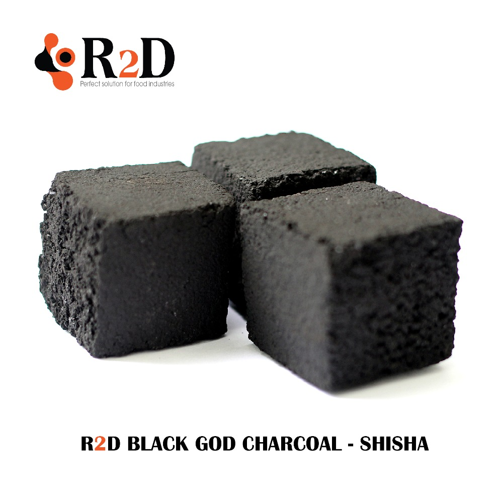 Shisha Charcoal- R2D Black Charcoal Odourless 100% Natural Coconut Shell