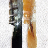 Beautiful Handmade Natural Hair Horn Combs