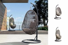 Evergreen Wicker Furniture - Single Swing Chair With Stand Frame