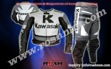Kawasaki, Leather Motorbike 2 pices Suit