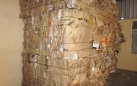 Clean OCC waste paper