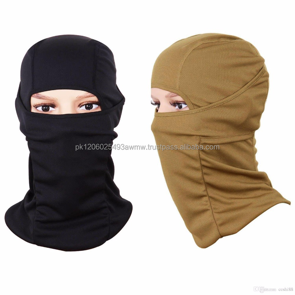 -Face Mask Sports Balaclava Balaclava Hood Unisex Functional Face Mask Hat Black Warm Scarf Cap.