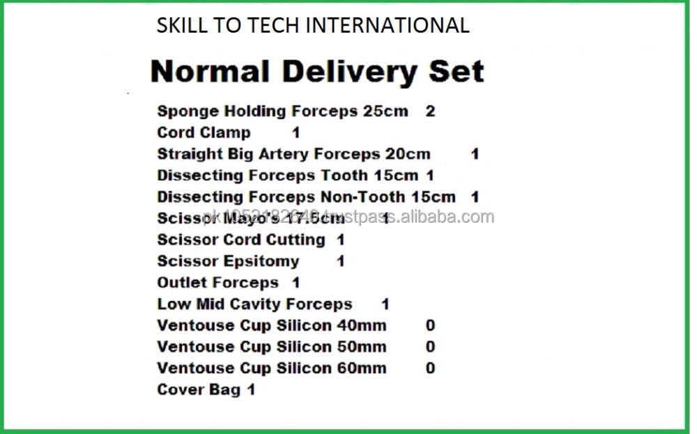 Surgical Instruments Delivery Kit