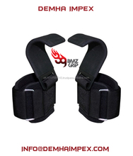 Power Weight Lifting Training Wrist Support Gym Straps Hook Bar