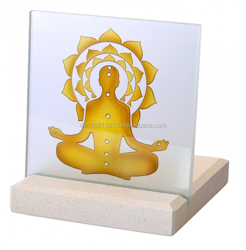 "CST101 T-Light Holder ""Chakra Buddha"""