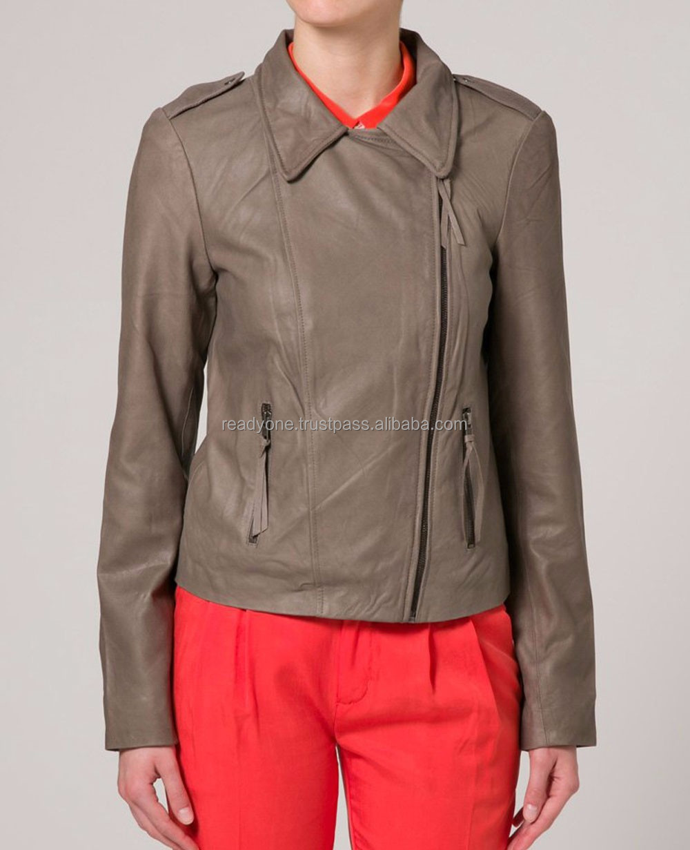 Women bomber pu jacket motorcycle