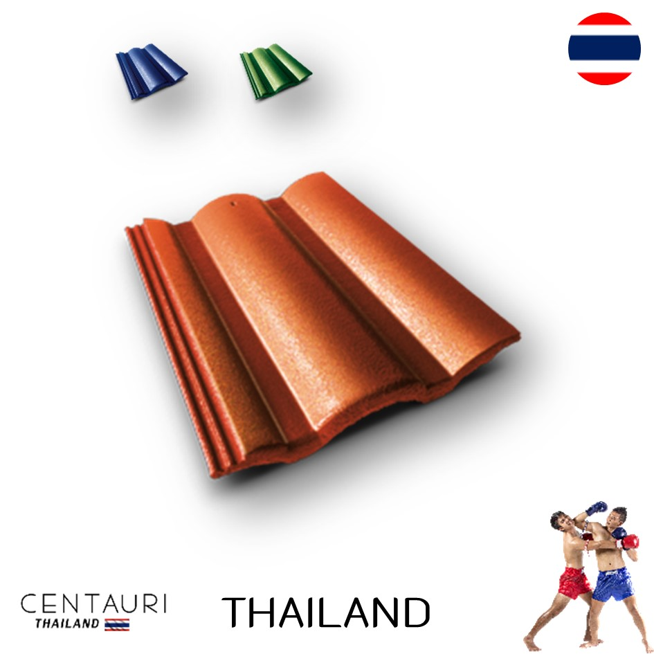 33*42 cm concrete carved new orange green blue brown full body Thai concrete roof tiles and roof tiles from Thailand
