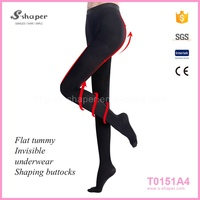 S - SHAPER 5 Toe Pantyhose Opaque Compression Pantyhose T0151A4