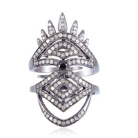 Single Cut Pave Diamond Rings 925 Sterling Silver Wholesale Jewelry Manufacturer India