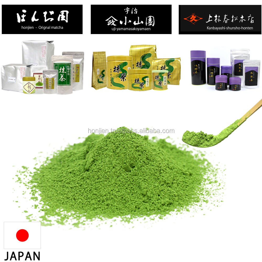 Most famous premium organic matcha green tea powder for processing made in Japan