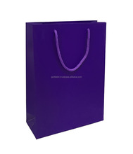 Great to look royal gift decorative Paper Bag Solid Violet Purple 8 inch x 11 inch x 3 inch vinatge gift carry bags.