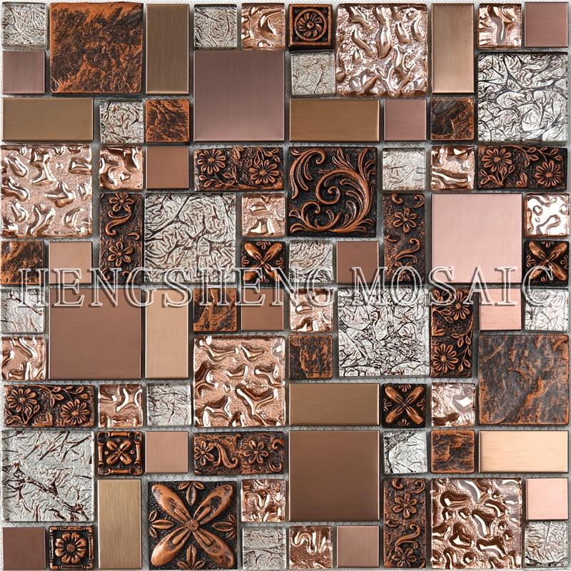 hxl09 new preminum copper resin glass decorative metal