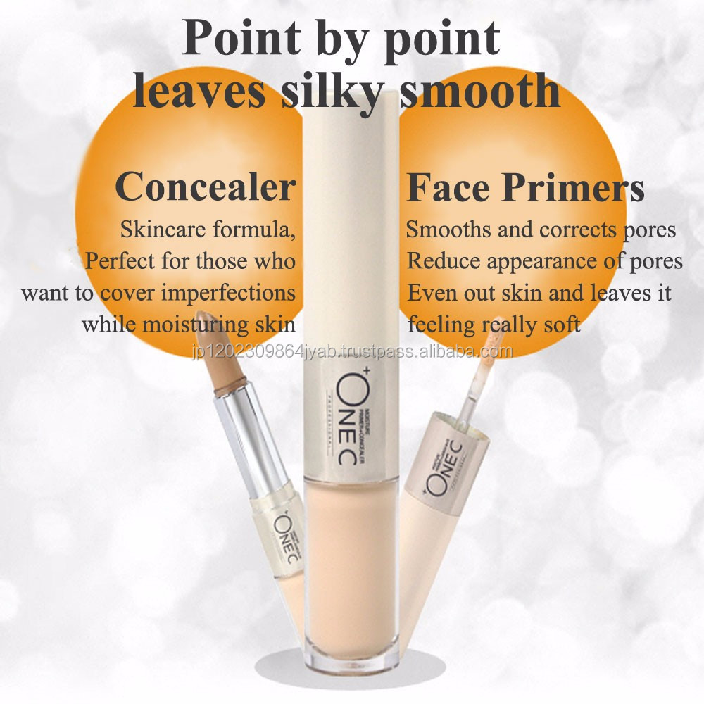 ONEC make up concealer and primer with skincare ingredients, fun to use