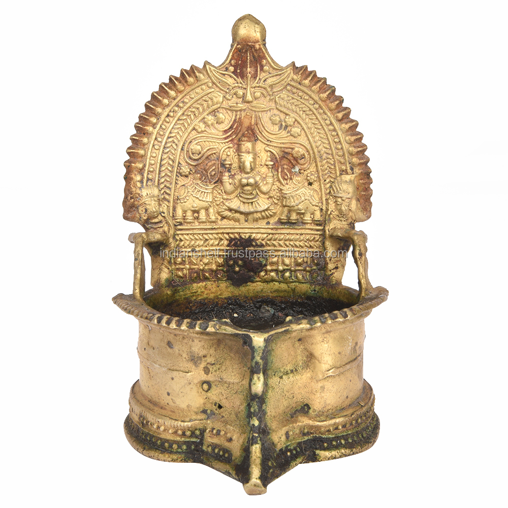 Ritual Puja Indian Brass Oil Lamp 5.2 x 3.2 BOL-100