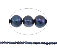 9-10mm dark blue dark blue Baroque Cultured Freshwater Pearl Beads