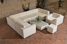 New Design 2015 - Beautiful Patio White Wicker Ploy Rattan Furniture/ Outdoor Furninture
