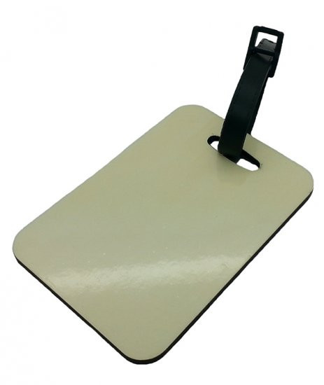Personalized Bag Accessories Sublimation Blank Hardboard MDF Shaped Luggage Tags