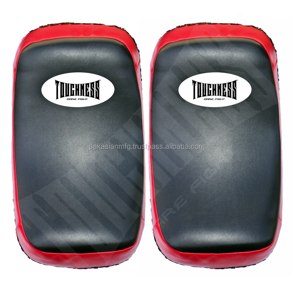 Curved MMA Thai Pads - Artificial Leather - Muay Thai Kick Boxing