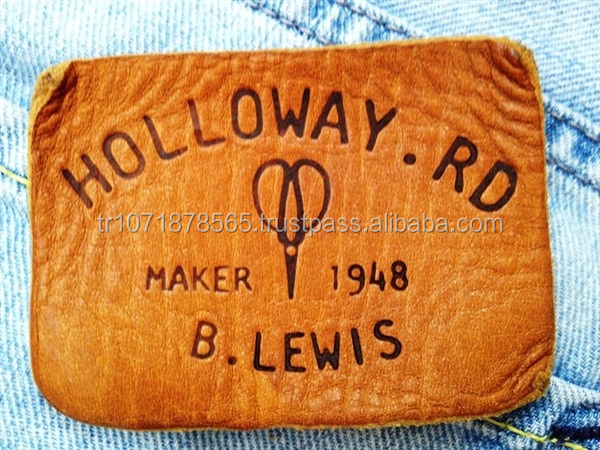 HIGH QUALITY BROWN VINTAGE WASHED GENUINE LEATHER LABEL PATCHES