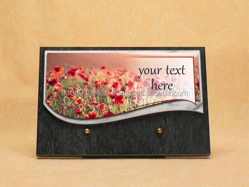 Commemorative Plaque engraved - France Hand made