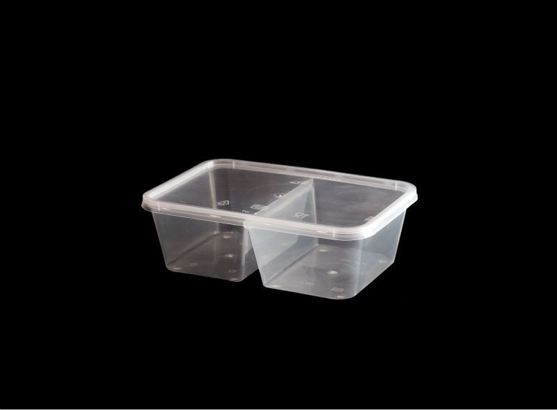750C Dual Compartments Rectangular Food Container