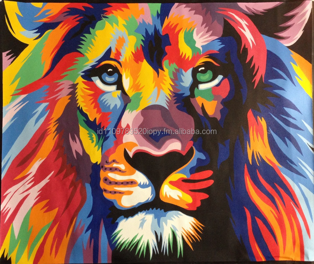 Lion hand made acrylic painting