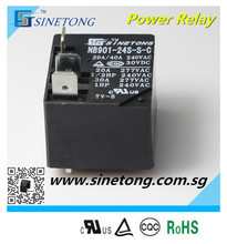 Electromagnetic 5pin 40A miniature 24V PCB type conversion power relay