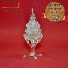 Custom wholesale glass Christmas tree ornament