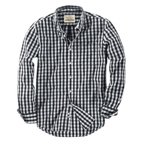 Black Formal Men's Breathable Work Shirts oF Long Sleeve