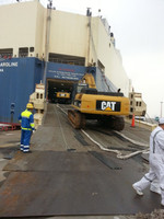 CAT 336D LOADING BY RORO SHIP