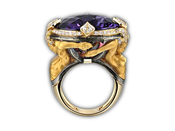 ring and pendant with sapphires and tanzanites