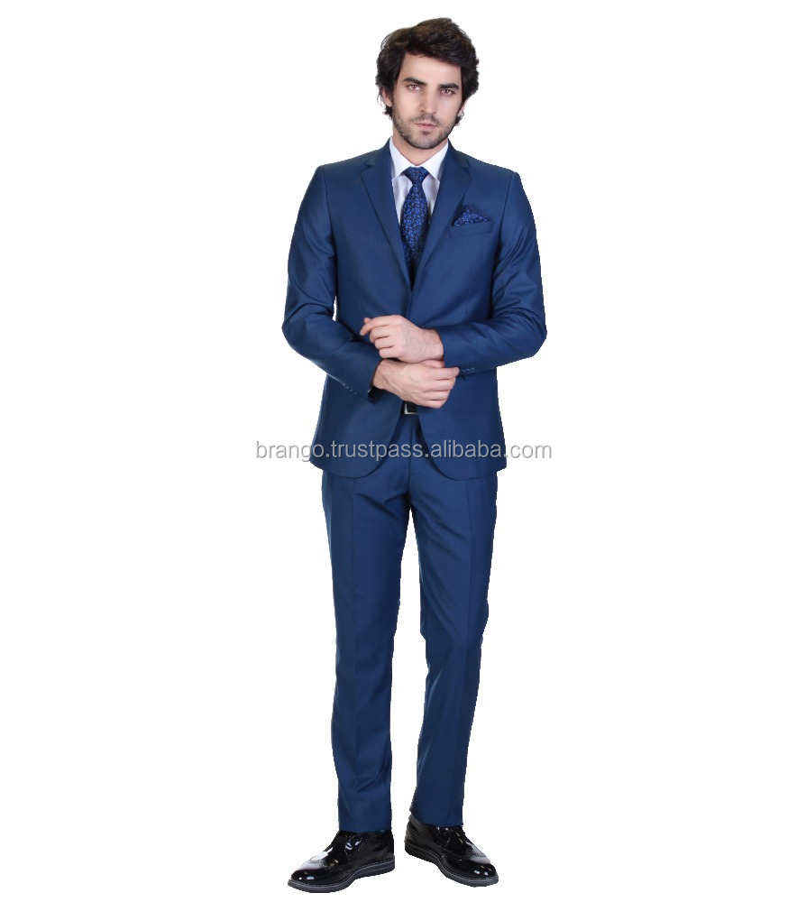 Men's Solid Color Single Button 2 pcs Suit 2016 From Turkey