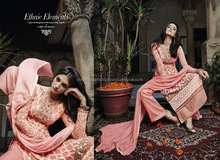 Baby Pink Georgette Palazzo Churidar Suit