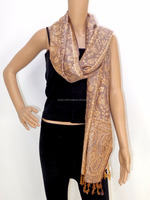 Wholesale pure silk stoles - traditional long neck scarf - two side wear shawl - Indian pashmina stoles - gift for her