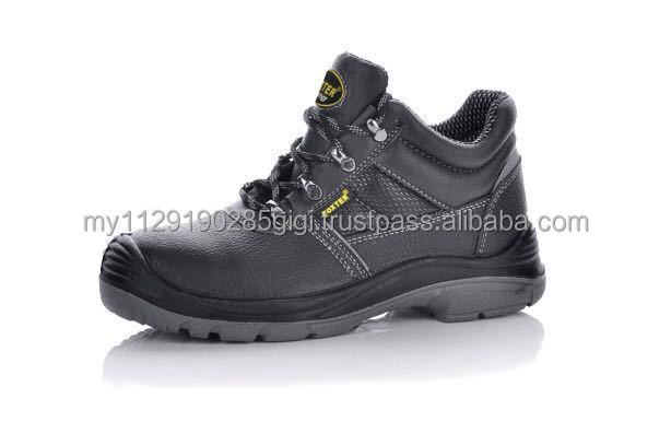 Malaysia factory safety shoe manufacturer, Stain-steel toe cap leather safety shoes(size:UK3-13)