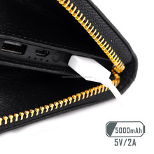 new fashional smart anti-lost wallet led intelligent cowhide smart wallet with power bank