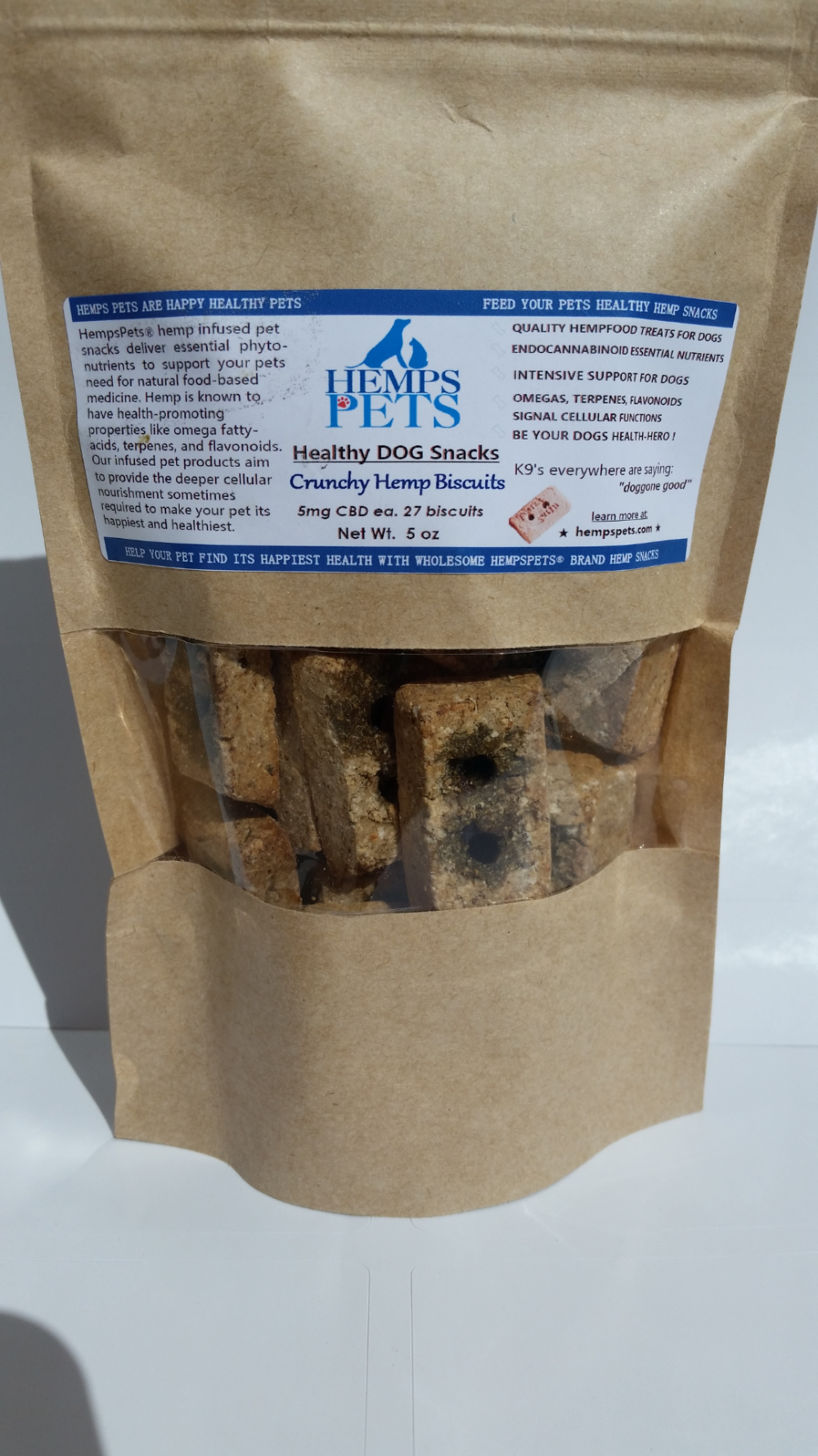 Hemps Pets Dog Hemp Healthy Dog Snacks Crunchy Biscuits Natural Smoke Flavor