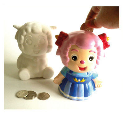 Ceramic Coin Bank Large Kit