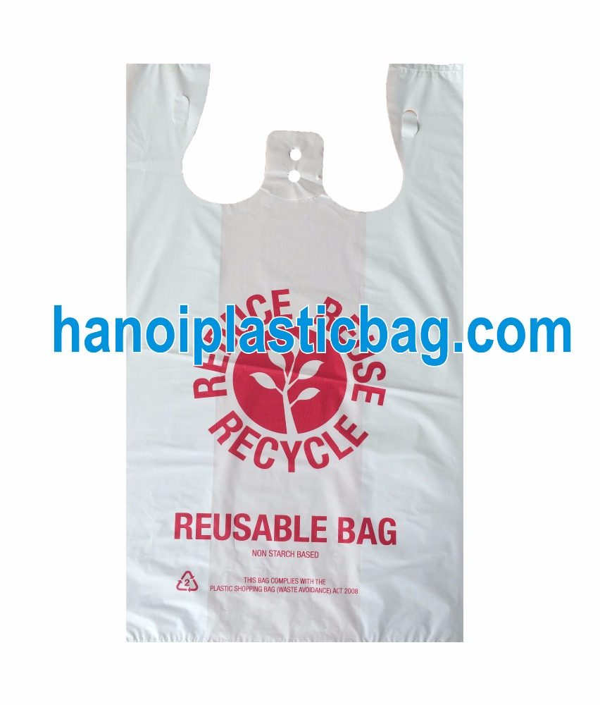 35micron bio degradable recycle plastic bag with printing