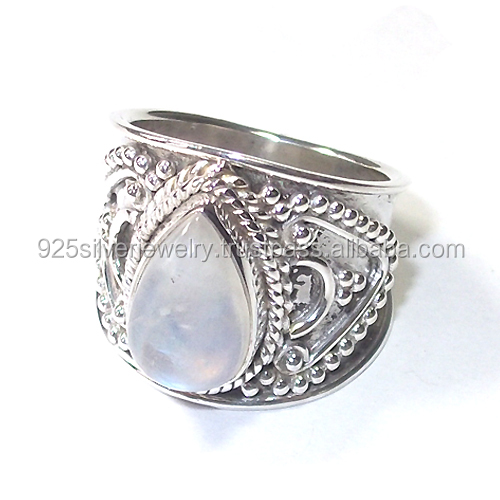 Rainbow Moonstone rings Antique rings wholesale jewelry tear drop stone rings jewelry Vintage jewelry