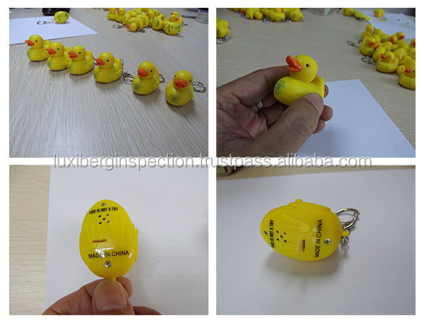 Rubber Duck Keyring Pre-Shipment Inspection Service / Product Quality Control and Testing / Sample Report