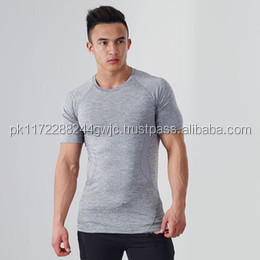 Gym t shirt wholesale seamless t shirt design with short sleeve/2016 Wholesale high quality OEM mens gym seamless t shirt