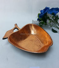 apple design gold finished fancy bowl