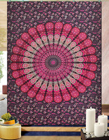 Indian Mandala Deorative Handmade Hippy Tapestry throw Cotton Ethnic Bedspread Wall Hanging tapestries Indian Mandala Tapestry