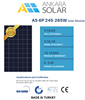 High efficiency 260W Poly Solar Panel - Made in Turkey - CE/IEC/TUV/ISO Certificate