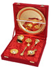 Gold Plated Pooja Thali Set / Exclusive Gift Product For Diwali