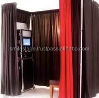 Adjustable and portable photo booth equipment with drapery for sale