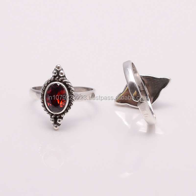 VINAGE!! GARNET TOE RING ,925 sterling silver jewelry wholesale,SILVER EXPORTER,SILVER JEWELRY FROM INDIA