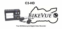 Bikevue C3-HD Motorcycle DVR Black Box Camera Dual Lens HD 720P Waterproof Lens